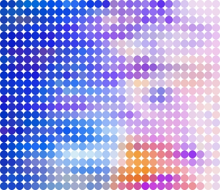 Purple background composed of dark and light rings in a row side by side and one below the other on a white background. Mosaic blue backdrop of geometric elements. Abstract circles pattern