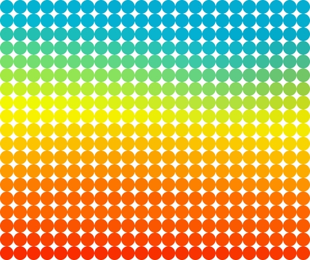 Colorful background composed of dark and light rings in a row side by side and one below the other on a white background. Mosaic backdrop of geometric elements. Abstract circles pattern.