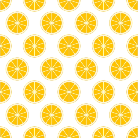 Orange citrus pattern. Illustration
