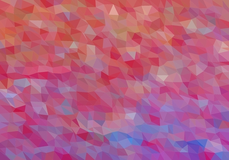 Colorful background consisting of triangles of different colors in a row next to each other and one below the other. Pixel abstract background. Mosaic of geometric elements Stock Illustratie