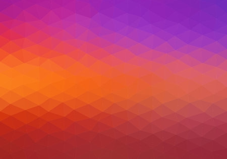 Colorful background consisting of triangles of different colors in a row next to each other and one below the other.