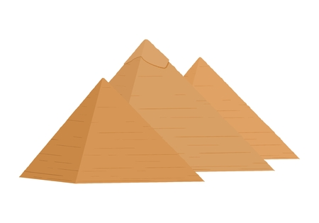 The icon with the Egyptian Pyramids of Giza on a white background