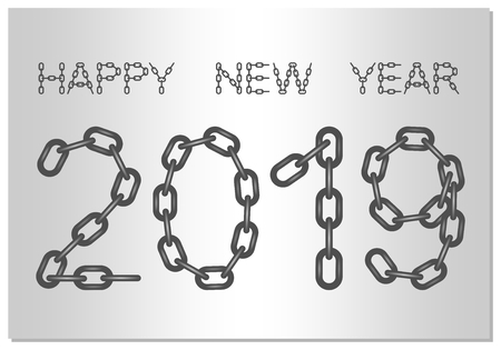 New year greetings for 2019 with the words happy new year from new year greetings for 2019 with the words happy new year from steel chain on a m4hsunfo