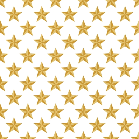 Luxury gold background with gold shiny stars in a row side by side and below them on a white background Illustration