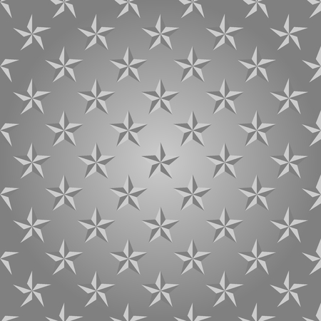 Luxury silver background with blue shiny stars in a row side by side and below them on a gray background
