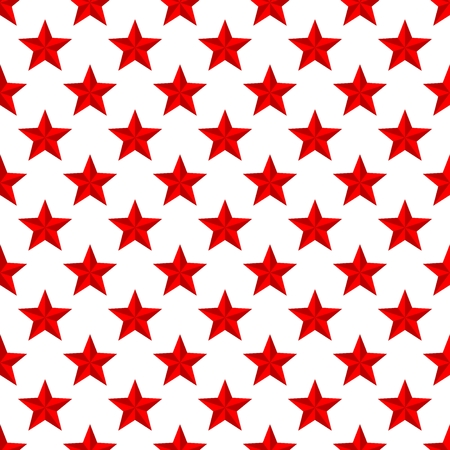 Luxury red background with red shiny stars in a row side by side and below them on a white background