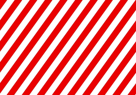 Warning red sign with white rectangular lines. Abstract backdrop with diagonal red and white strips. Danger zone background Vektorové ilustrace