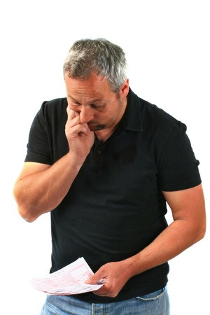Man worry about bills Stock Photo - 11024828