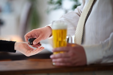 carelessness: drink and drive Stock Photo