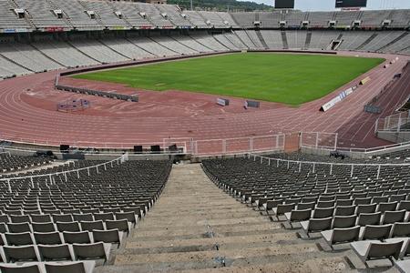 olympic stadium: Barcelona Olympic Stadium Editorial