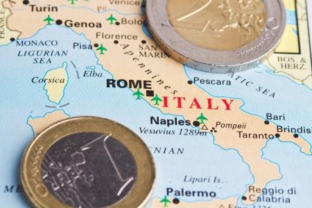 e u: Italy and the euro Stock Photo
