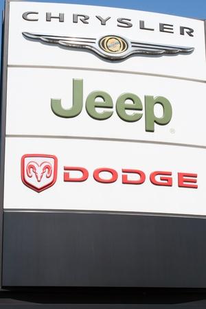 dodge: Chrysler, Dodge, Jeep Sign