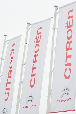 Citroen Motors Flag Stock Photo - 15944878
