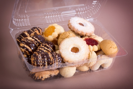 Cookies in box isolated photo