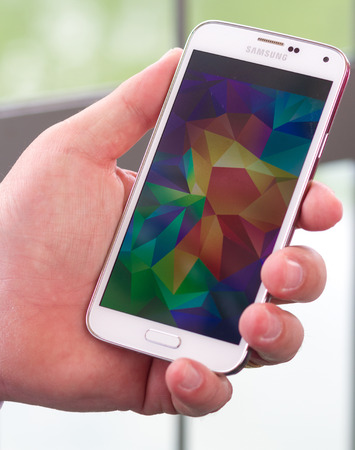 Samsung Galaxy S5 in hand