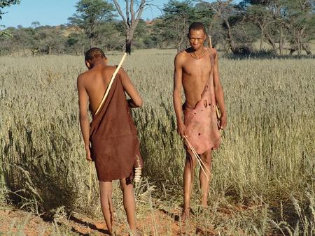 Katsan, Namibia - April 26: Unrecognised  bushmen is hunt in the Katsan place on April 26, 2008, Namibia