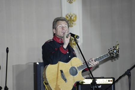 deserved: MOSCOW - DECEMBER 28: Russian singer Alexander Malinin on a New Year performance at Supreme Court of Russian Federation on December 28, 2009 in Moscow, Russia Editorial