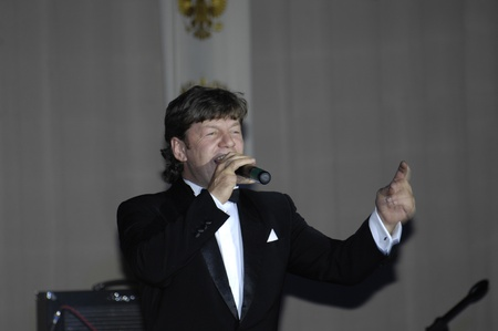felix: MOSCOW - DECEMBER 28: Russian singer Felix Tsarikati on a New Year performance at Supreme Court of Russian Federation on December 28, 2009 in Moscow, Russia Editorial