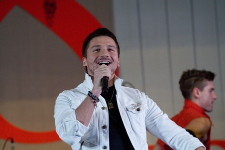 deserved: MOSCOW - MARCH 5: Russian actor and singer Sergey Lazarev on a concert in Supreme Court of Russian Federation on March 5, 2011 in Moscow, Russia