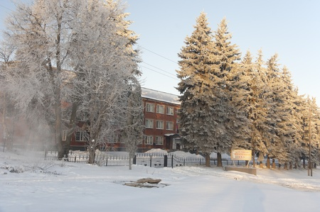 District court building in Efremov. Russia