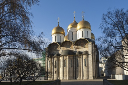 Orthodox cathedral Uspenskiy in Kremlin, Moscow. Russia photo