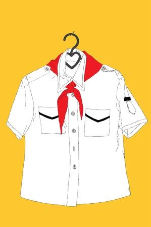 lenin: Pioneer uform on a hunger  Illustration image