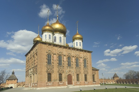 Orthodox Dormition Cathedral  XVI century  in the Tula Kremlin, Russia Stock Photo - 13513626