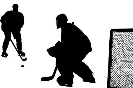 Hockey match  Illustration
