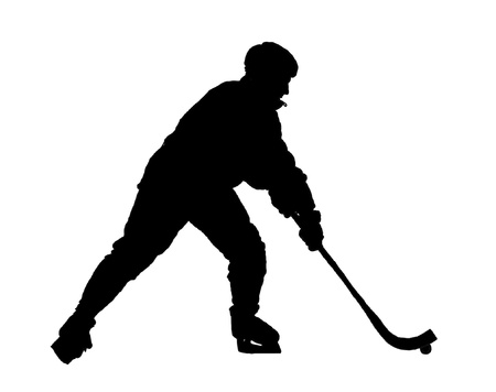Vector image of hockey game Vector