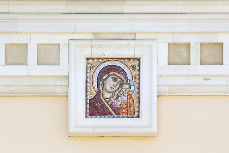 Mosaic of Icon of the Kazan Mother of God  The Temple in Honor of Lord
