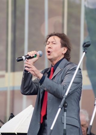 deserved: S  PETERSBURG - JUNE 11  Singer Albert Asadullin on memoriam concert of M  Magomaev  Thank you  on June 11, 2012 in S  Petersburg, Russia