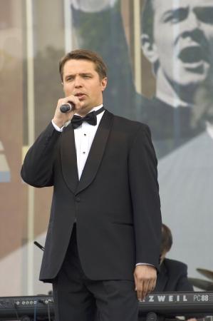 deserved: S  PETERSBURG - JUNE 11  Singer, baritone of Mariinsky theatre Vladimir Tselebrovsky on memoriam concert of M  Magomaev on June 11, 2012 in S  Petersburg, Russia