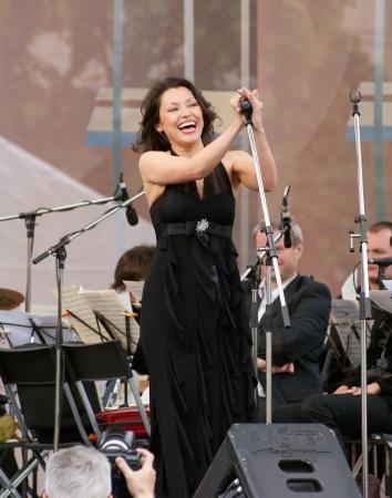deserved: S  PETERSBURG - JUNE 11  Singer, soprano of Mariinsky theatre Irina Mataeva on memoriam concert of M  Magomaev on June 11, 2012 in S  Petersburg, Russia