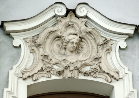 friso: Edificio detalle alivio de friso arquitect�nico con cabeza humana