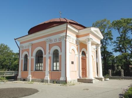 architector: Chapel in Shlisselburg by architector G  Ershov  Saint Petersburg region  Russia Stock Photo