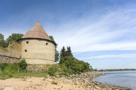 Old Golovina  Head  tower at Shlisselburg fortress Oreshek