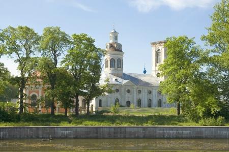blagoveshchensky: Blagoveshchensky Cathedral  Shlisselburg  Saint Petersburg region Stock Photo