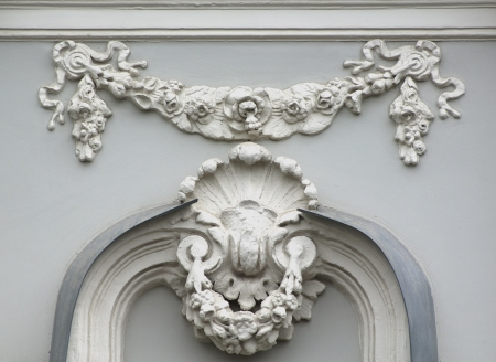 friso: Edificio detalle alivio de friso arquitect�nico Foto de archivo