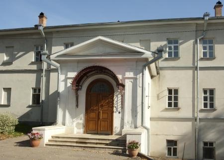 Territory of Holy Pokrovskiy Monastery in Khotkovo  Moscow region, Russia Stock Photo - 15988766