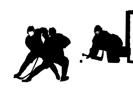 Hockey match image Vector