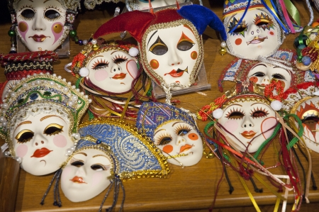 Masks onle a table photo