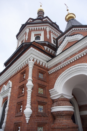 Historical town Yaroslavl in Russia, chapel of Alexander Nevskiy photo