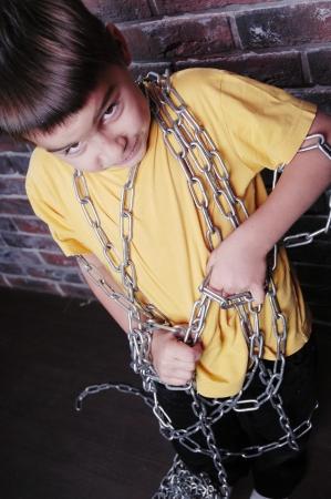Angry child prisoner  photo