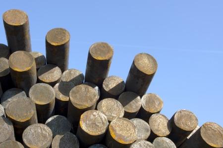 joist: metal rods in warehouse