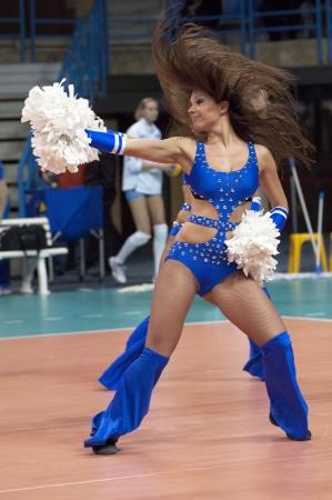 dynamo: MOSCOW, RUSSIA - FEBRUARY 18: Unidentified cheerleaders dance on women Editorial