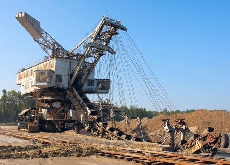 coal mine: Working mine machine