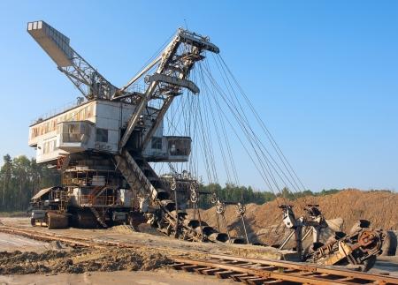 mine site: Working mine machine