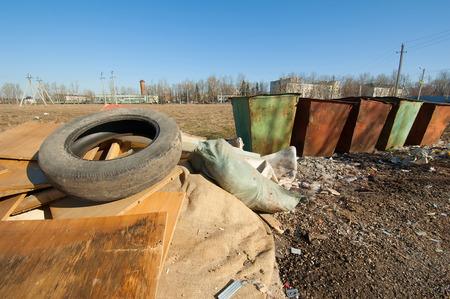 segregate: Trash place Stock Photo