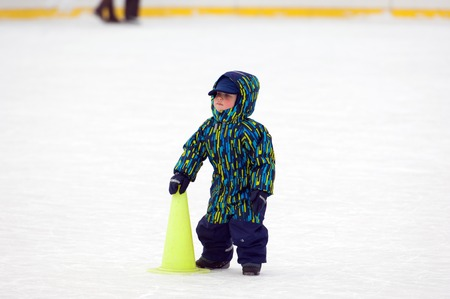 sport event: MOSCOW - JANUARY 25: Unidentified baby on tournament on family sport event on January 25, 2015 in Moscow, Russia