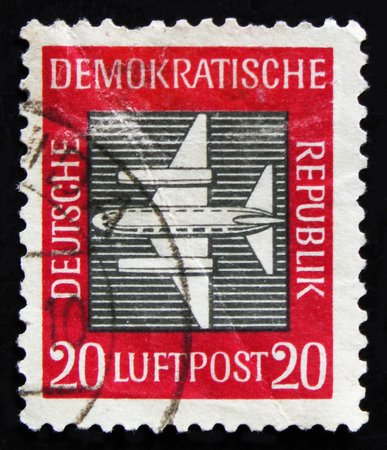 MOSCOW, RUSSIA - APRIL 2, 2017: A post stamp printed in DDR (Germany) from the